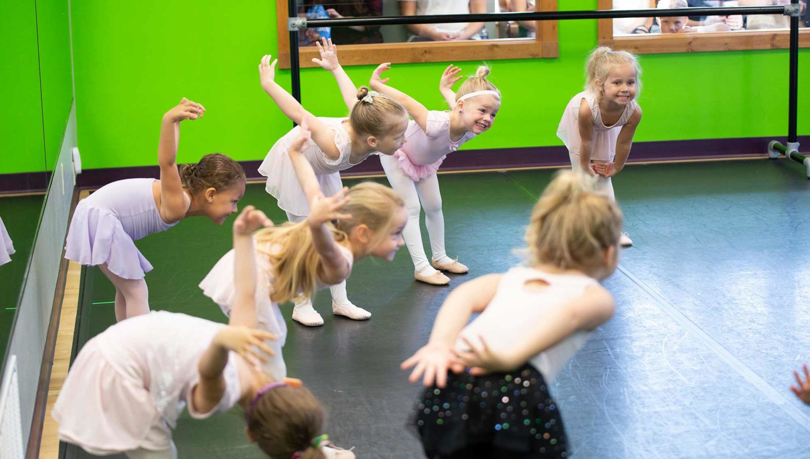 Young dancers learning to dance